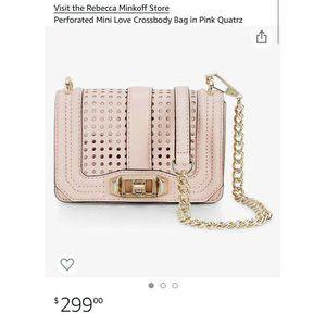 Rebecca Minkoff Mini Love Crossbody Bag in Pink Qu